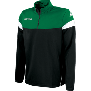 Novare 1/4 zip black / green