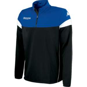 Novare 1/4 zip black / Nautic Blue