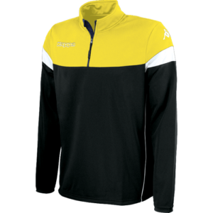 Novare 1/4 zip black yellow
