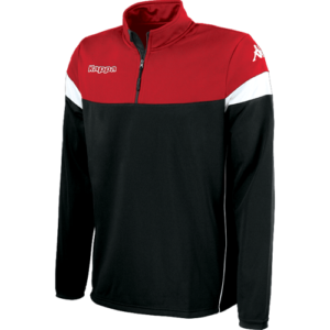Novare 1/4 zip black red blk