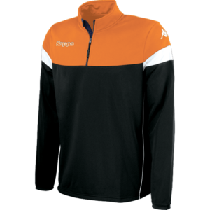 Novare 1/4 zip black orange