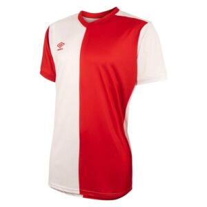 50/50 Jersey Vermillion White