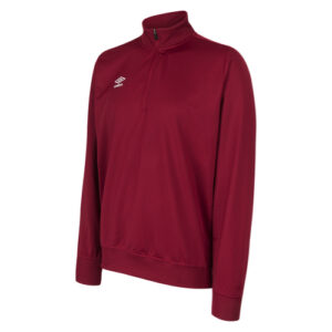 Essential 1/2 Zip Sweat - Claret