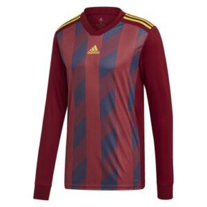 Adidas striped 19 ls jersey maroon