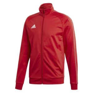 Adidas Core 18 polyester jacket power red