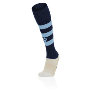Macron Hoops Socks Navy Sky Blue